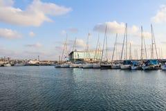 Marina w Ashdod, statki w morzu śródziemnomorskim, Izrael Zdjęcia Royalty Free