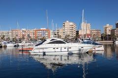 Marina w Puerto De Mazarron, Hiszpania Zdjęcia Royalty Free