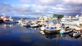 Marina w Reykjavik, Iceland Obrazy Royalty Free