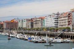 Marina w Santander, Cantabria, Hiszpania Zdjęcia Royalty Free
