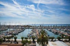 Marina w Sitges Obraz Royalty Free