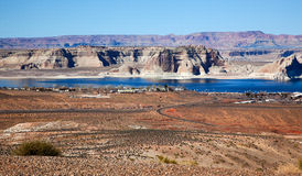 Marina Wahweap Bay Lake Powell Glen Canyon Arizona Stock Photo