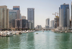 Marina walk district in Dubai, UAE Stock Photo