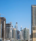 Marina walk district in Dubai, UAE Royalty Free Stock Image