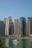 Marina walk district in Dubai, UAE Royalty Free Stock Photography