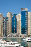 Marina walk district in Dubai, UAE Royalty Free Stock Images