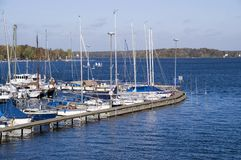 Marina on Wannsee lake Stock Photo