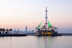 Marina Waves Pavilion at dusk, Kuwait Stock Photography