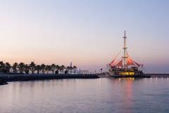 Marina Waves Pavilion at dusk, Kuwait Royalty Free Stock Photos