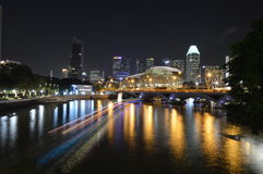Marina way in singapore during christmas Royalty Free Stock Image