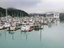 Marina Whittier Alaska Stock Afbeeldingen