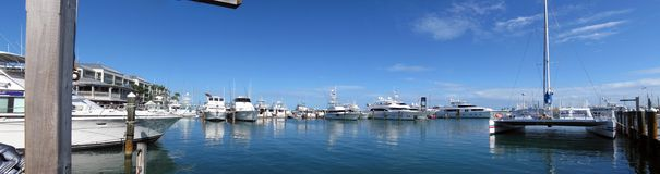Marina. Wide panorama of marina in Key West, Florida, USA royalty free stock image