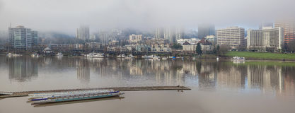 Marina by Willamette River Panorama Stock Images