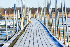Marina in winter Stock Images