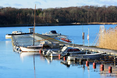 Marina in winter Royalty Free Stock Images