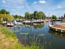 Marina of Woudrichem, Brabant, Netherlands Royalty Free Stock Photos