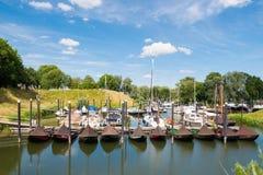 Marina of Woudrichem, Brabant, Netherlands Stock Photos