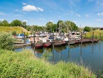 Marina of Woudrichem, Brabant, Netherlands Royalty Free Stock Images