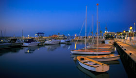 Marina with yachts and boats in Israel. Ashkelon. Royalty Free Stock Photo