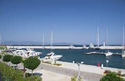 Marina with yachts and boats Royalty Free Stock Photos