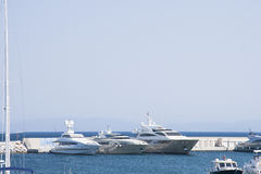 Marina with yachts and boats Royalty Free Stock Photo