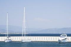Marina with yachts and boats Stock Photo