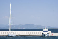 Marina with yachts and boats Stock Image