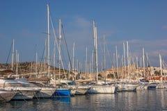 Marina yachts Cesme Stock Photos