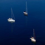 Marina with yachts, Corfu, Greece Royalty Free Stock Image