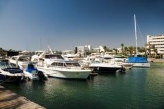 Marina with yachts Royalty Free Stock Photo