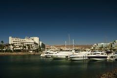 Marina with yachts Royalty Free Stock Image