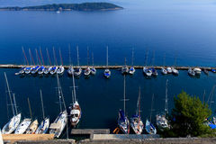 Marina with yachts, Kerkyra, Corfu Stock Images