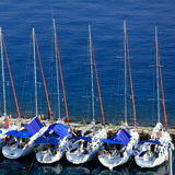 Marina with yachts, Kerkyra, Corfu Royalty Free Stock Photo
