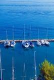 Marina with yachts, Kerkyra, Corfu island, Greece Royalty Free Stock Image