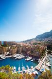 Marina, yachts and luxury district in city of Monaco Stock Photos