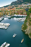 Marina Yachts in Monte Carlo Monaco Harbor Stock Images