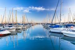 Marina with yachts in Puerto de Mogan Royalty Free Stock Photography
