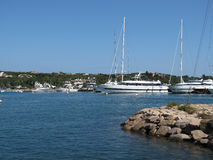 Marina with yachts. Sardinia. Stock Photo