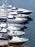 Marina with yachts Royalty Free Stock Images