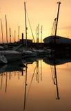 Marina yachts Stock Photo