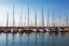 Marina z cumującymi jachtami, Ashdod, Zdjęcie Stock