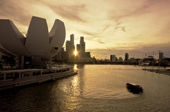 Singapur miasta odgórny widok Zdjęcie Stock