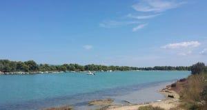 Marina zatoka w Halkidiki Zdjęcie Royalty Free