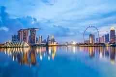 Marina zatoka w Singapur przy zmierzchem Obraz Stock