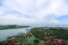 Marina zatoki ogródu widok Zdjęcia Royalty Free