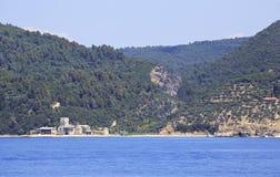 Marina of Zograf Monastery. Mount Athos. Royalty Free Stock Photo