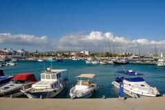 Marina, Zygi, Cyprus, looking across the habour. Stock Images