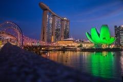 MarinaBays Sand. This photo taken in Singapore on Helix Bridge Stock Image