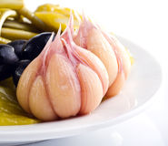Marinad garlic Stock Photo