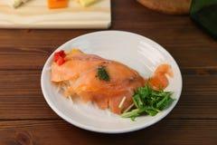 Marinade des saumons image stock